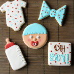 Oh Boy! Baby Shower Cookies