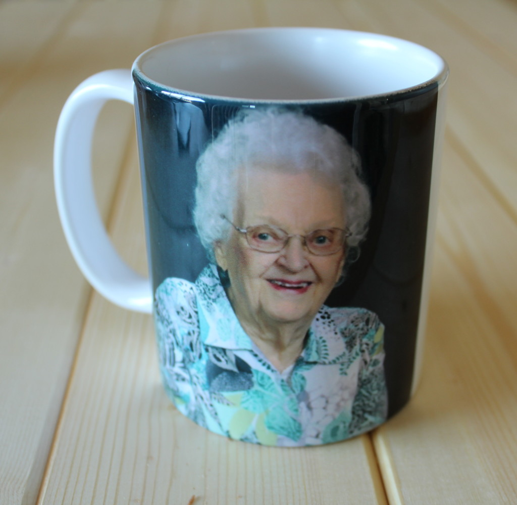 Grandma Lounsbery's Mug on a Mug