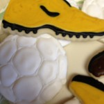 Soccer Ball and Cleat Cookies