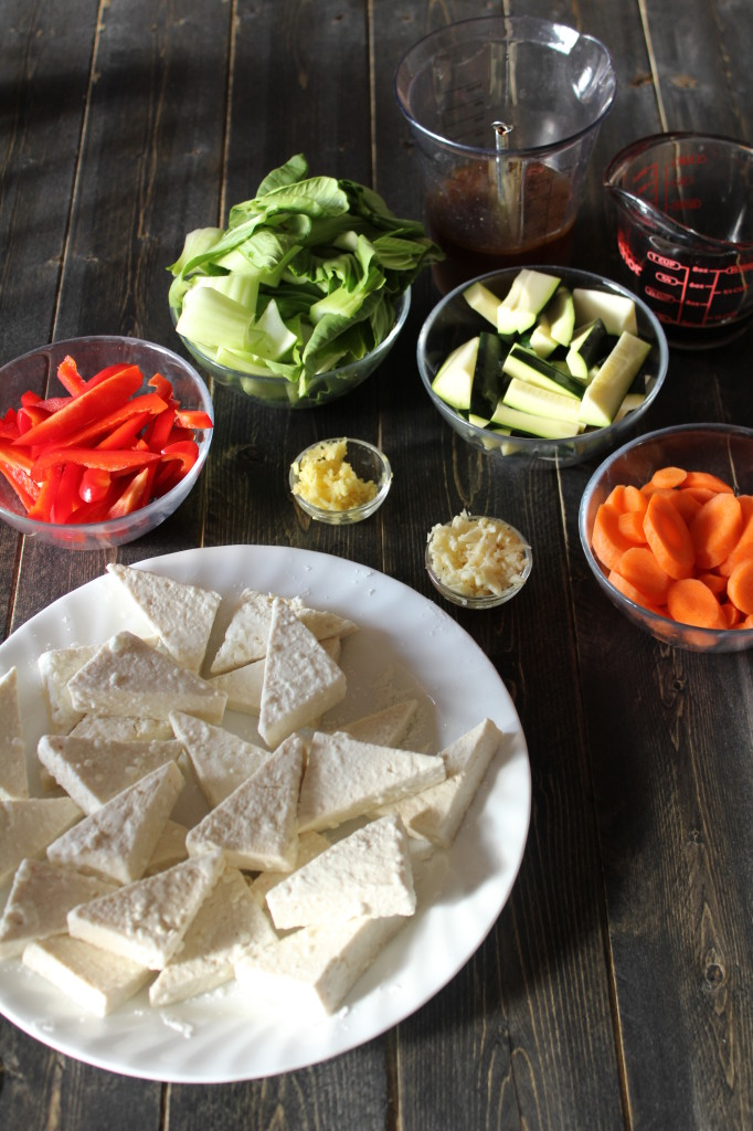 Tofu stif fry ingredients