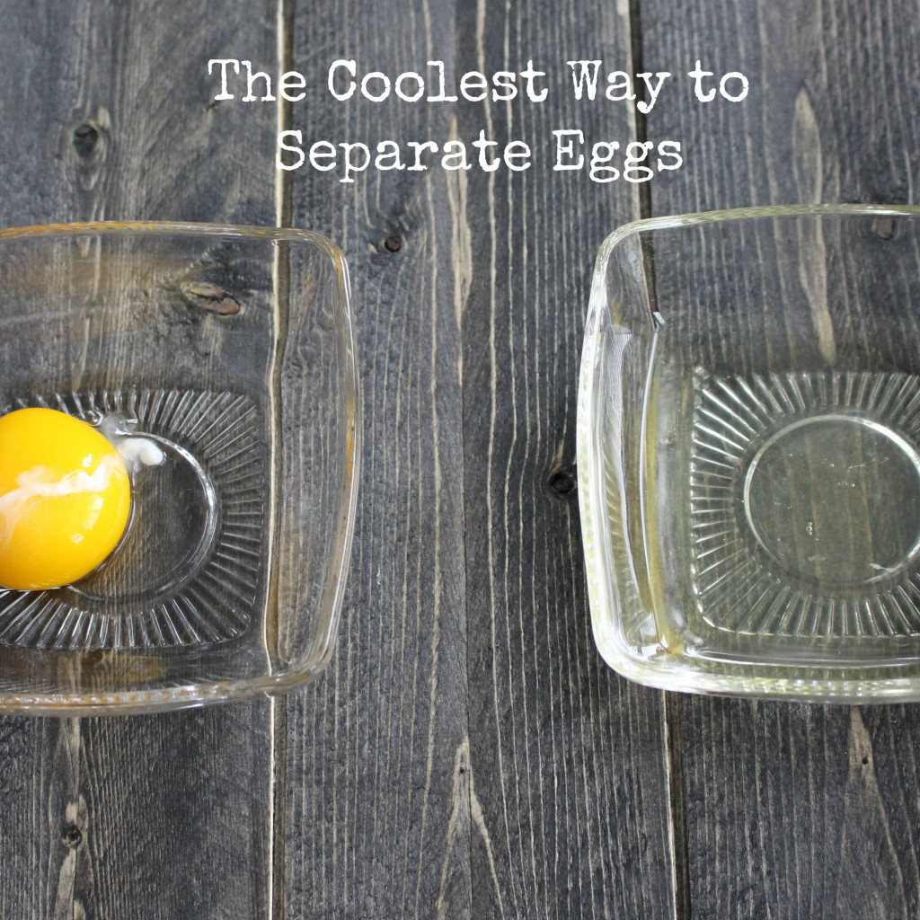 The Coolest way to Separate Eggs | eatthinkbemerry.com