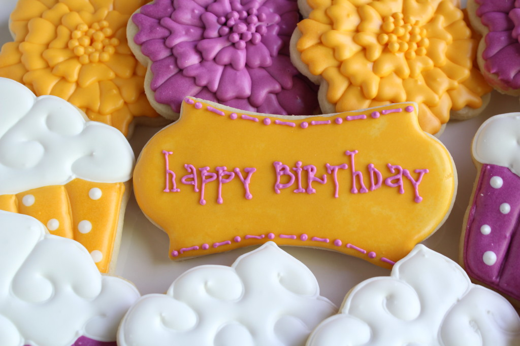 Happy Birthday BFF plaque cookies