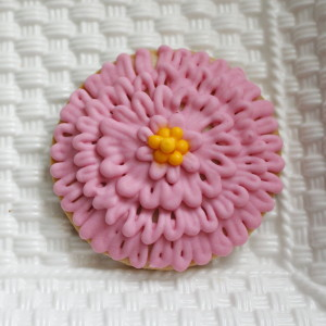 Pink Zinnia Cookie