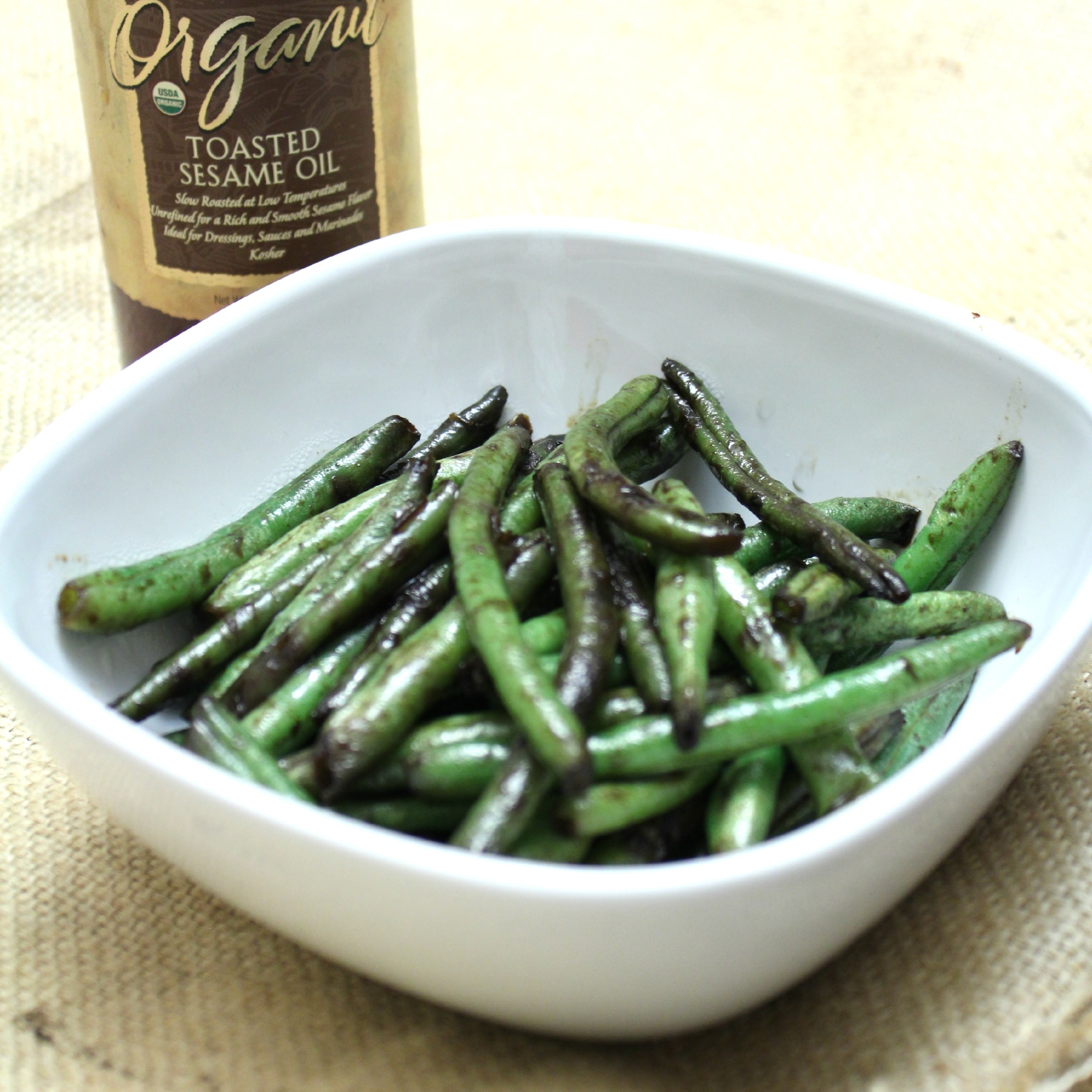 Sesame Green Beans - Eat, Think & Be Merry