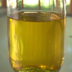 Strained frying oil