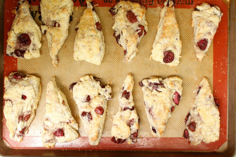 Cherry Almond scones
