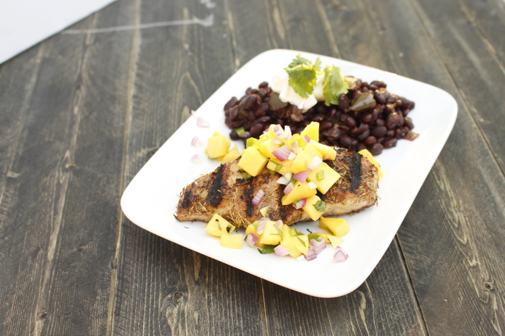 Jamaican Jerk Chicken with Mango Salsa