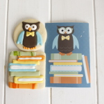 Owl Cookies for a Book-Themed Baby Shower