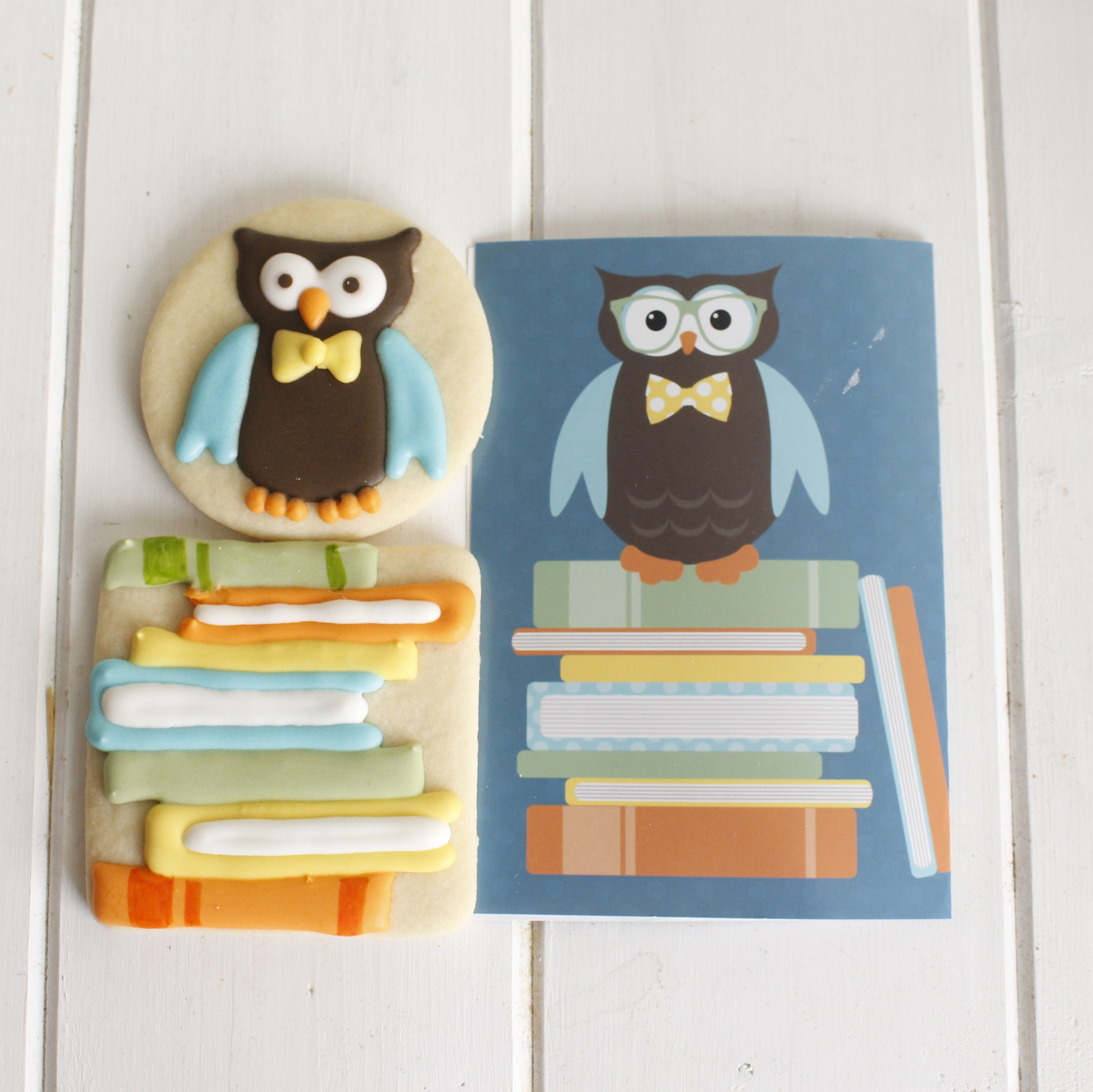 Owl Cookies for a Book-Themed Baby Shower - Eat, Think & Be Merry