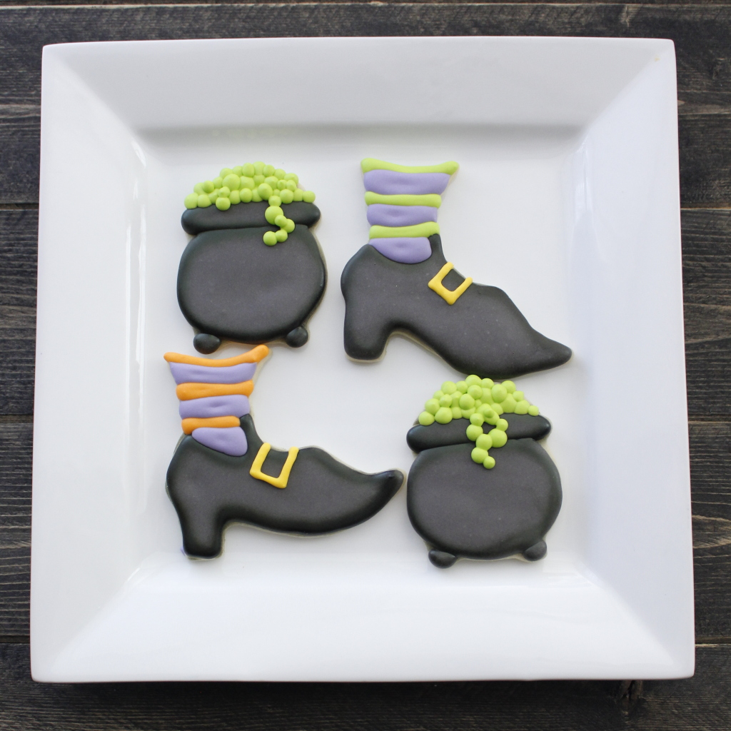 Witches shoes and cauldron cookies