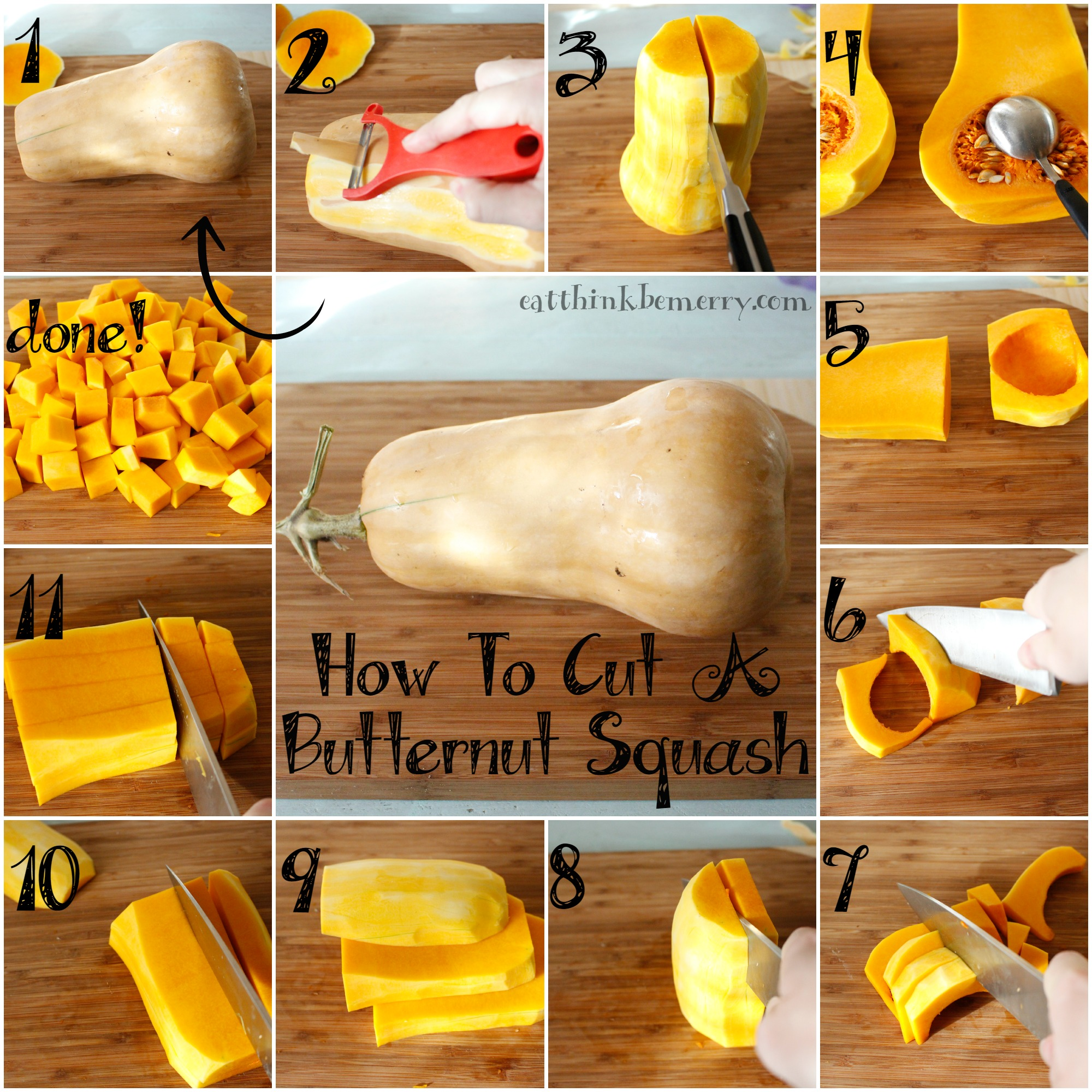 How to Cube Butternut Squash