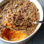 Countdown to Thanksgiving- Pecan Topped Sweet Potato Casserole