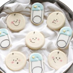 Diaper Pin and Baby Face Cookies