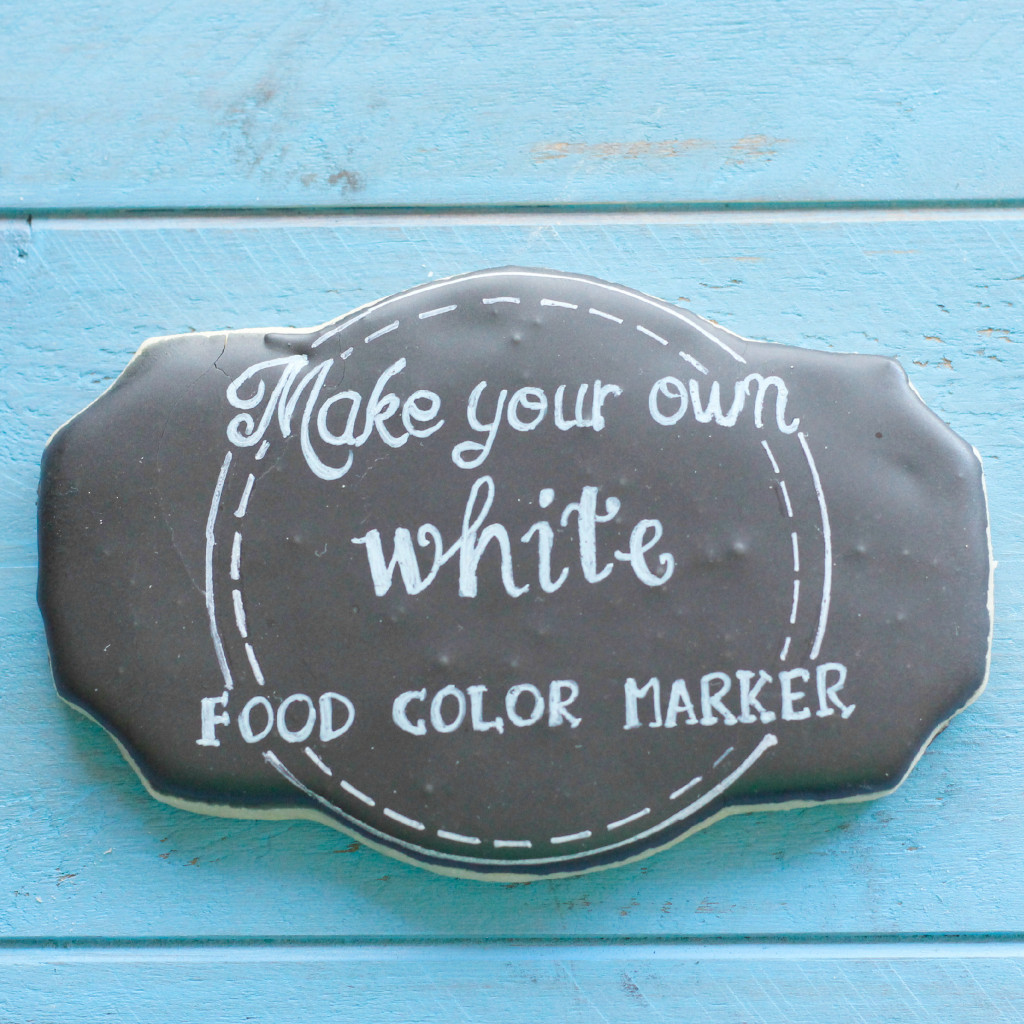 make your own white food color marker sidebar