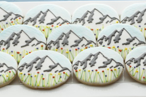 Mountain Range Cookies