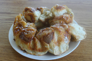 Sticky Buns with Instant Butterscotch Pudding