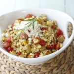 Fresh Corn, Tomato and Feta Salad