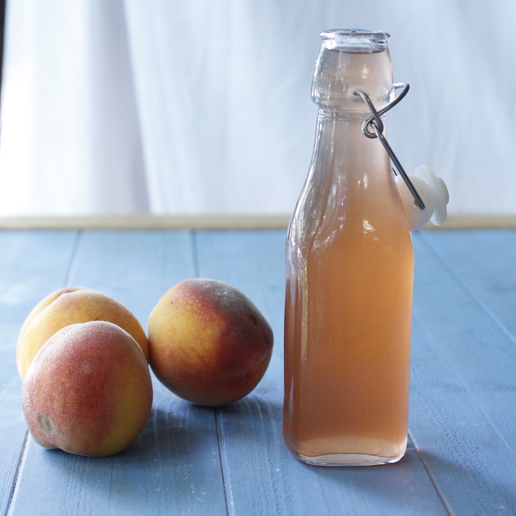 homemade peaches and cream soda