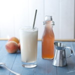 Homemade Fresh Peaches and Cream Soda