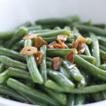 garlicky brown butter grean beans