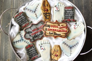 mortician theme bridal shower