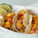 honey mango shrimp taco