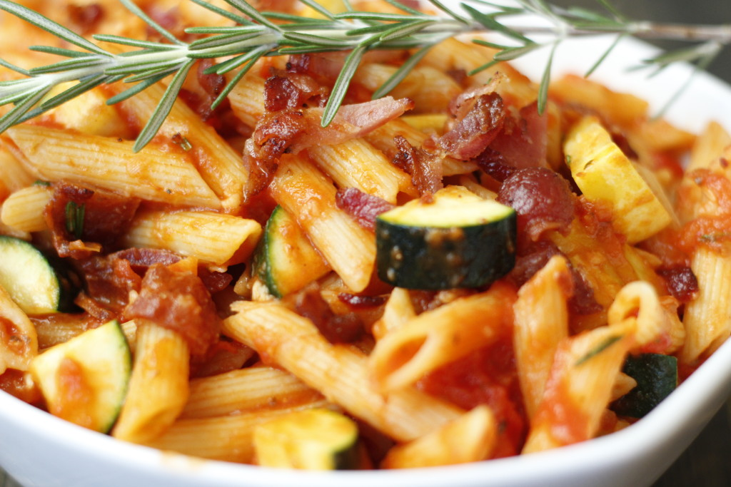 rosemary bacon penne pasta
