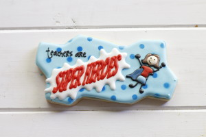 Teachers are Super Heroes cookies